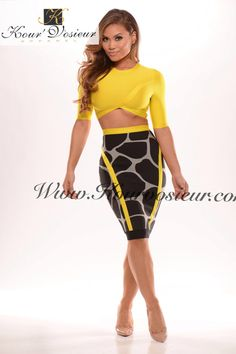 Zuma II 2 piece bandage dress - Kourvosieur  - 1