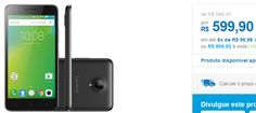 "Smartphone Lenovo Vibe C2 16GB Preto Dual Chip 4G Câm. 8MP Frontal 5MP Tela 5"" HD Proc. Quad Core << R$ 50992 >>"