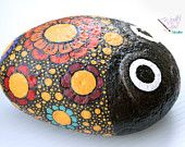 Flowered Bug Rock Painting