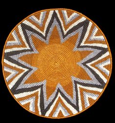Africa | Basket made by Mumcy Gamedze, in the Northern Hhohho region of Swaziland | Swazi baskets are made from sisal, which is an invasive weed, as such it is ideal for craft production since harvesting does not threaten the country's natural biodiversity. In making sisal baskets, tableware and jewelry, every step is carried out by hand since machine-prepared sisal yields inferior results.