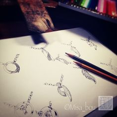 drawing jewelry sketch  jewelry studio Misabou http://misa-bou.com