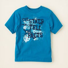 boy - graphic tees - stats graphic tee | Children's Clothing | Kids Clothes | The Children's Place