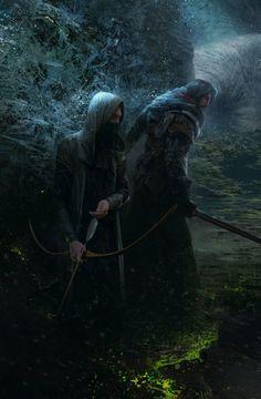 Fantasy Art Engine | fantasyartwatch:   Scouts by Max Bedulenko