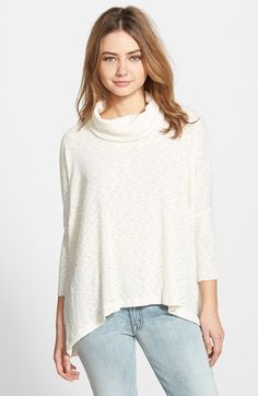 Free shipping and returns on Free People 'World Traveler' Pullover at Nordstrom.com. A long-sleeve pullover crafted from a cozy tri-blend is topped with a flouncy cowl neck and artfully notched in the back for a cascading envelope hemline.
