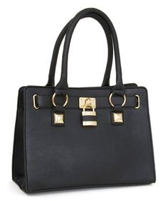 Look what I found on #zulily! Black Oversize Stud Lock Tote by Rebecca & Rifka #zulilyfinds