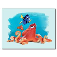 Hank, Dory & Nemo #tarjeta #postal #postcard