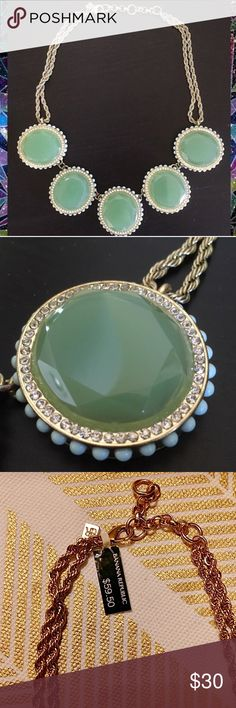 Banana Republic statement necklace Banana Republic mint green statement necklace in like new condition. Retails for $60, price tag doesn't come with necklace, picture included for reference only. Banana Republic Jewelry Necklaces