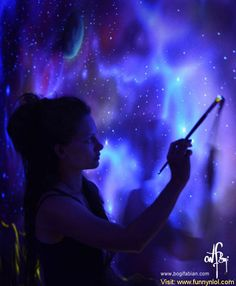 When The Lights Go Out, My Glowing Murals Turn These Rooms Into Dreamy Worlds by http://www.funnynlol.com/creative/lights-go-glowing-murals-turn-rooms-dreamy-worlds