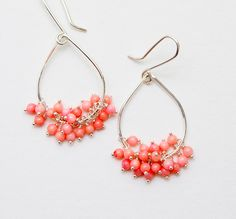 """Learn how to make earrings with charms, beads, or jump rings in little bunches (or """"clusters"""") for a fun variation on the typical dangle earring design. We've gathered 22 earring patterns so you can learn how to make cluster earrings of all kinds! 