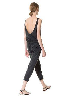 ZARA cotton jumpsuit