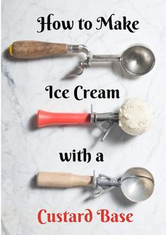 Learn to master the technique of making custard for homemade ice cream in this…