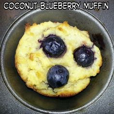These were absolutely delicious! We used coconut oil, a gluten free coconut and cassava flour blend, sweetened with a little bit of coconut sugar and topped with plump blueberries. They turned out super soft and moist. YUM! ~~~ #delicious #glutenfree #blueberry #muffins #coco #coconut #coconuts #coconutoil #cocooil #coconutsugar