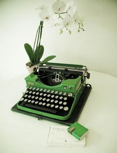 Typewriter. (mom collects vintage ones)