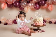 balloon garland, blush and burgundy, Cleveland Baby Photographer