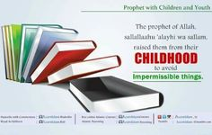 """35. Raise them from their childhood to avoid impermissible things  Abu Hurayrah narrated that Al-Hasan ibn 'Ali took a date from some dates for charity and put it in his mouth, so the Prophet of Allah, sallallaahu 'alayhi wa sallam, made the sound: """"Kakh, Kakh!"""" for him to spit it out.  He, sallallaahu 'alayhi wa sallam, then said to him: """"Didn't you know that we do not eat from charity?"""" (Bukhari & Muslim) Spit It Out, Ibn Ali, Prophet Muhammad, Hadith, Raising Kids, True Religion, Islamic Quotes, Muslim, Dates"""