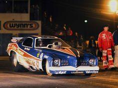 Bob Picket in Mickey Thompson's 'US Marine' Pontiac Grand-Am Funny Car