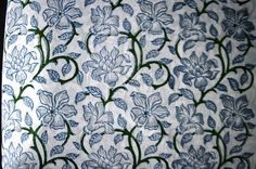 1 to 50 Yards Indian Hand Block Printed Floral by FabricOfIndia