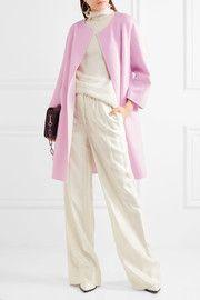 cdb71c52847 Jil Sander Two-tone cashmere coat Feminine Style