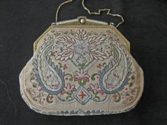 1920's 30's Vintage Tambour Embroidered Evening by KISoriginals, $129.00