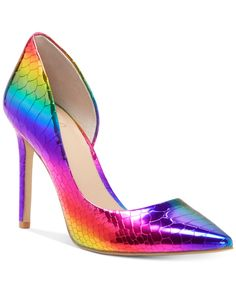 Oct 2019 - Inc Women's Kenjay d'Orsay Pumps, Created for Macy's - Rainbow Snake Metallic Rainbow Heels, Rainbow Snake, Pump Shoes, Shoe Boots, Pumps, Stiletto Heels, High Heels, Strappy Heels, Clearance Shoes
