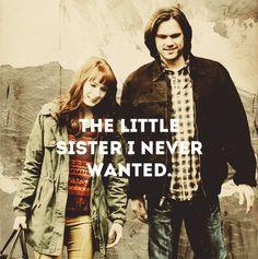 ''The little sister I never wanted.'' / Charlie Bradbury & Sam Winchester