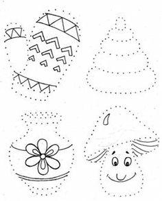 ЗАДАНИЕ №6: Обведи рисунки по точкам и раскрась их.