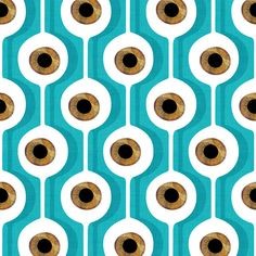 Eye Pod Turquoise by Alex Morgan. aqua teal turquoise