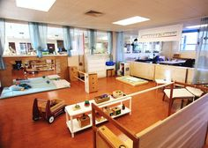 A portion of Montessori Northwest's model home environment for babies and  toddlers.