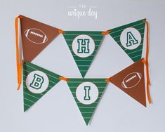 Football HAPPY BIRTHDAY Banner  Football Party by theuniqueday