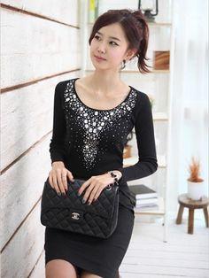 Solid Color Elegant Velvet Dress For Lady