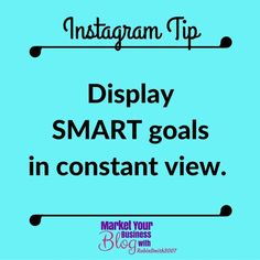 Instagram Tip: Keep SMART goals in view. Now with 2016 coming to an end very soon we all are talking about 2017 goals.  Ok let's start what are SMART goals? S - Specific M - Measurable A - Attainable R - Relevant T - Time-based (time bound)  An example is By June 30th 2017 I want 45 more people into my business.   The date is time based. The number 30 is specific and measurable. Attainable yes at this time I get about 25-30 leads daily from Instagram. Relevant yes I teach Instagram and in my…