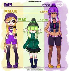 splatoon O.C's (Squids) by Kimo-Chi on DeviantArt Pokemon, Nintendo Eshop, Nintendo Characters, Amazing Drawings, Super Mario Bros, Cute Art, Character Art, Video Games, Anime