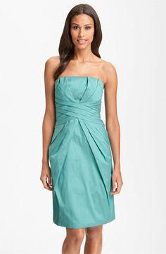 ML Monique Lhuillier Bridesmaids Pleated Strapless Taffeta Dress (Nordstrom Exclusive) | Nordstrom