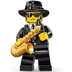 LEGO Jazz Musician Minifigure Neue Wege, Lego Minifiguren, Legofiguren,  Bassklarinette, Lego Menschen