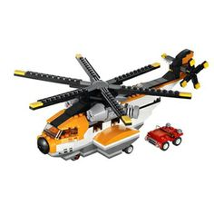 Transport Chopper Bu büyük Lego Creator 3in1 Ulaştırma Chopper ile gökyüzüne ve denizlerin hakimi olun. 1 set içerisinde 3 model deneyimini yaşa! Deniz uçağı, helikopter ve feribot şeklinde inşa edilebilir. #latelye #lego