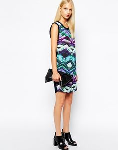 Enlarge Y.A.S Shift Dress in Abstract Crystal Print