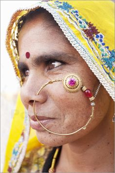 Artist Reference | Character inspiration | Rajasthani woman with nose ring