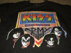 Sale Vintage FOREVER 21 KISS Sweatshirts Metal Band by casualisme