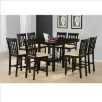 Hillsdale Tabacon 9 Piece Counter Height Dining Set in Cappuccino - - - Hillsdale Furniture Dining Room Furniture Sets, Dining Room Sets, Dining Room Table, Home Furniture, Kitchen Tables, Room Kitchen, Kitchen Ideas, Espresso, Hillsdale Furniture