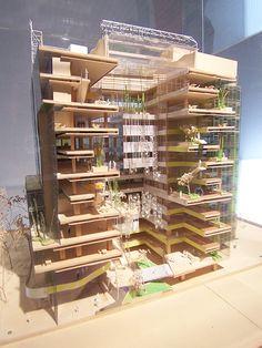Commitment to the Environment – Aprendiendo a Ver Maquette Architecture, Interior Architecture Drawing, Architecture Model Making, Architecture Concept Drawings, Green Architecture, Architecture Design, Social Housing Architecture, Residential Building Design, Arch Model