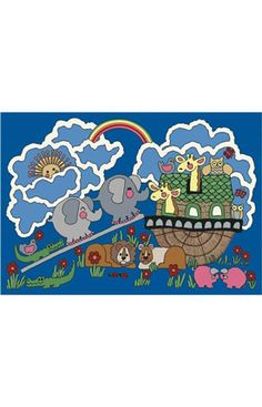 Kid Essentials Noah's Ark Rug