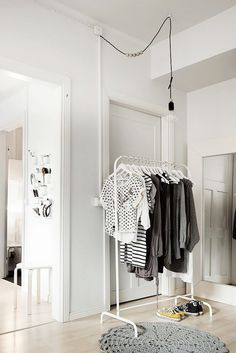 Unlike your cumbersome cupboard, an open clothing rack is portable. So if you want to feature it in the hallway or in a cool corner in another part of the house, you totally can! Make it a unique...