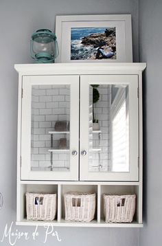 Bathroom Ideas ~ Prodigious Over The Toilet Storage Bathroom Furniture Photos And Inspirations: Modern Bathroom Cabinets Ideas With White Painted Over The Toilet Storage Added Double Mirror And Open Shelf As Decorate Small Bathroom Furnishings Designs