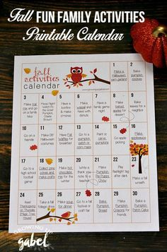Ad: Take advantage of cooler weather for some fall activities for kids! Print…
