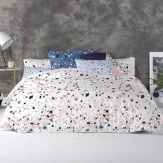 BIRDIE BLOSSOM BLUE FLORAL UK SINGLE US TWIN UNFILLED DUVET COVER /& PILLOWCASE