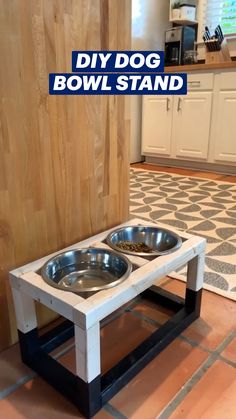 Diy Wood Projects, Home Projects, Wood Crafts, Woodworking Projects, Dog Bowl Stand, Homemade Dog Food, Diys, Diy Dog, Diy Stuffed Animals