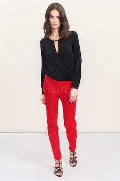 Pantalon Celestine Red Lingerie, Trousers Women, Parachute Pants, Capri Pants, Spandex, Model, Red, Cotton, Shopping