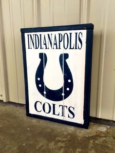Indianapolis Colts Decor Wooden Framed Sign by CharmingWillows