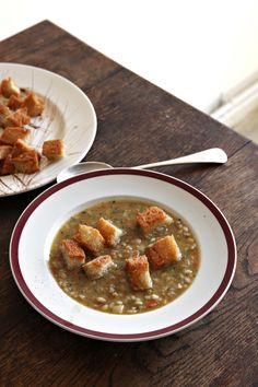 This is a substantial soup – serve it with a salad and some bread and it's a meal in itself. As the barley simmers with the vegetables, it thickens the broth and gives it a creamy texture. You can certainly use pearled spelt in place of pearl barley.