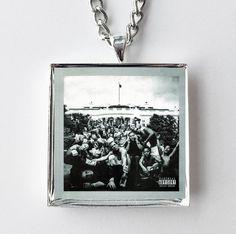 Kendrick Lamar - To Pimp A Butterfly - Album Cover Art Pendant Necklace #kendrick #lamar #hiphop